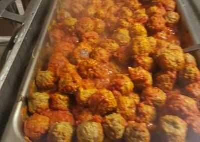 THANKSGIVING MEATBALLS IN RED SAUCE