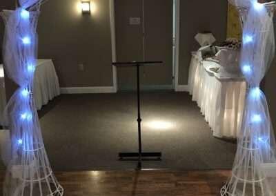 archway podium setup