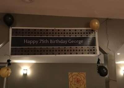 birthday banner setup