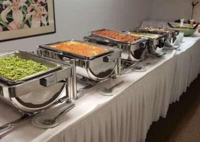 buffet setup w food