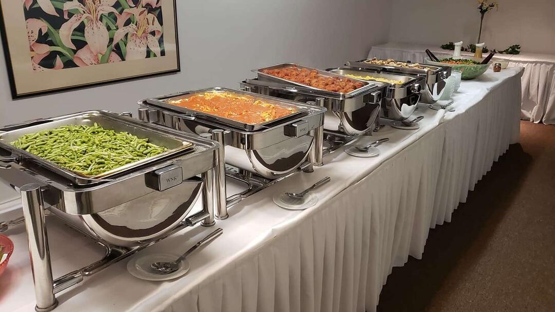 Pleasant Buffet Setup W Food Gatherings Banquet Event Center Interior Design Ideas Oxytryabchikinfo