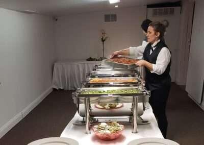 buffet setup w server 2