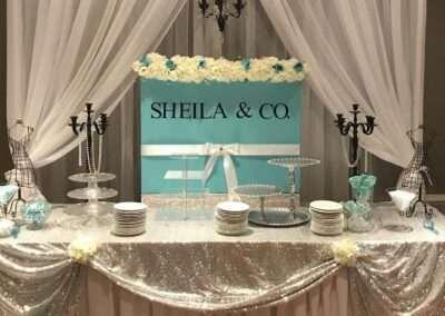 wedding tble setup